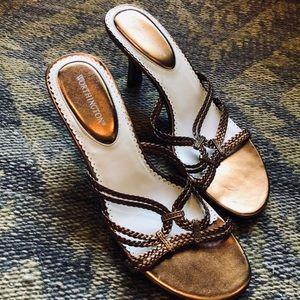 New Worthington Bronze Copper Heel Sandal Sz 7